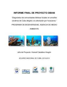 INFORME FINAL DE PROYECTO DB048