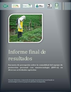 Informe final de resultados