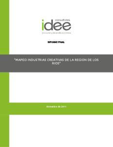 INFORME FINAL MAPEO INDUSTRIAS CREATIVAS DE LA REGION DE LOS RIOS