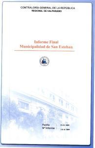 Informe Final Municipalidad de San Esteban