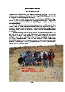 Informe: Globo 1 San Luis. Por Luis Quintas, LU6QI