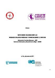 Informe MAPEO SOBRE DIÁLOGOS COMPLEJO MIRADAS DE MUJERES INDÍGENAS Y FEMINISTAS SOBRE EL VIVIR BIEN