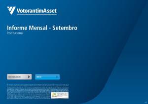 Informe Mensal - Setembro
