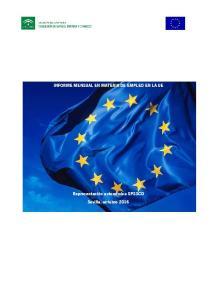 INFORME MENSUAL EN MATERIA DE EMPLEO EN LA UE