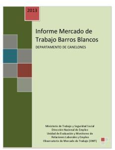 Informe Mercado de Trabajo Barros Blancos
