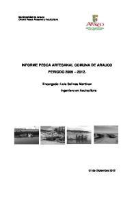 INFORME PESCA ARTESANAL COMUNA DE ARAUCO PERIODO