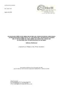 Informe Preliminar. preparado por Philippe Lortie, Primer Secretario