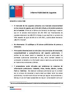 Informe Publicidad de Juguetes