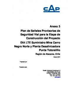 INFORME. Región de Atacama, Chile. Enero Preparado por: Preparado para: