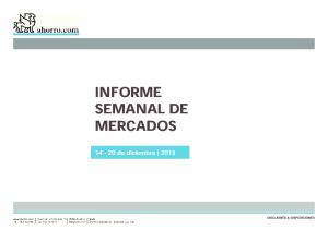 INFORME SEMANAL DE MERCADOS