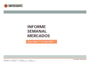 INFORME SEMANAL MERCADOS