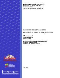 Informe Semestral 1er Semestre 2015 (Enero - Junio)