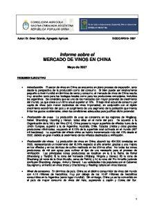 Informe sobre el MERCADO DE VINOS EN CHINA