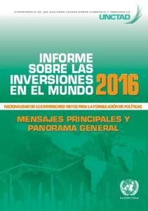 INFORME SOBRE LAS INVERSIONES EN EL MUNDO