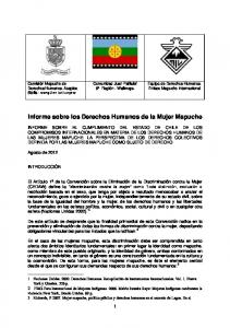 Informe sobre los Derechos Humanos de la Mujer Mapuche