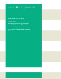 Informe sobre Presupuesto 2014