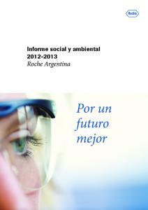 Informe social y ambiental Roche Argentina. Por un futuro mejor