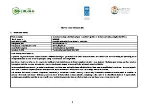 Informe Tercer Trimestre 2014