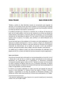 Informe Trimestral Agosto a Octubre de 2012