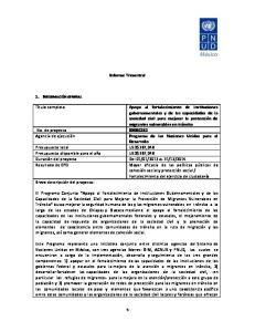 Informe Trimestral. Desarrollo