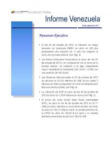 Informe Venezuela 04 de octubre de 2012