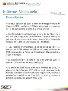Informe Venezuela 24 de Enero de 2017