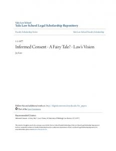 Informed Consent - A Fairy Tale? - Law's Vision