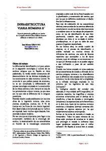 INFRAESTRUCTURA VIARIA ROMANA II 1