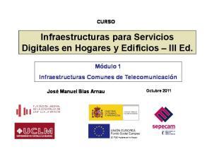 Infraestructuras para Servicios Digitales en Hogares y Edificios III Ed