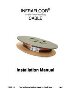 INFRAFLOOR underfloor heating CABLE