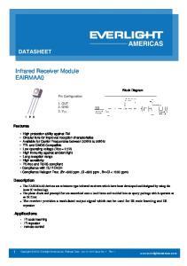 Infrared Receiver Module EAIRMAA0