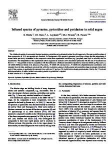 Infrared spectra of pyrazine, pyrimidine and pyridazine in solid argon