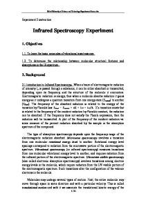 Infrared Spectroscopy Experiment