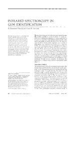 INFRARED SPECTROSCOPY IN GEM IDENTIFICATION