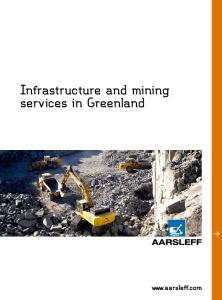 Infrastructure and mining services in Greenland