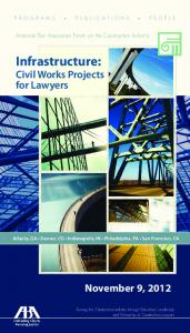 Infrastructure: Civil Works Projects for Lawyers