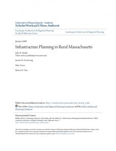 Infrastructure Planning in Rural Massachusetts
