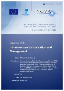 Infrastructure Virtualisation and Management