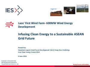 Infusing Clean Energy to a Sustainable ASEAN Grid Future