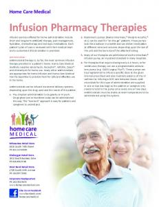 Infusion Pharmacy Therapies