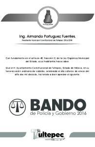 Ing. Armando Portuguez Fuentes