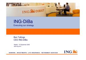 ING-DiBa Executing our strategy
