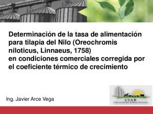 Ing. Javier Arce Vega