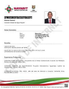 Ing. Juan Jorge Santiago Ortega