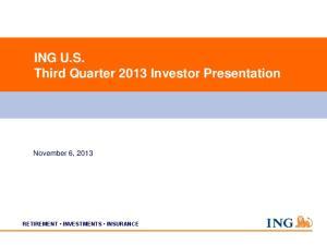 ING U.S. Third Quarter 2013 Investor Presentation