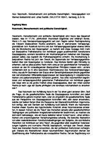 Ingeborg Maus Naturrecht, Menschenrecht und politische Gerechtigkeit
