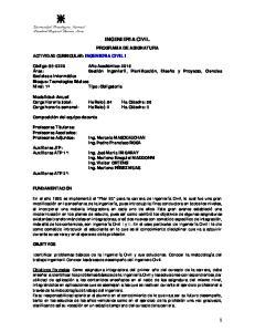 INGENIERIA CIVIL PROGRAMA DE ASIGNATURA