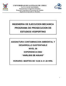 INGENIERIA DE EJECUCION MECANICA PROGRAMA DE PROSECUCION DE ESTUDIOS VESPERTINO