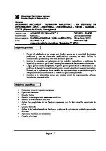 INGENIERIA MECANICA - INGENIERIA INDUSTRIAL - EN SISTEMAS DE INFORMACION - CIVIL - ELECTRICA - ELECTRONICA NAVAL - QUIMICA - TEXTIL