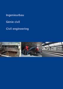 Ingenieurbau. Génie civil. Civil engineering